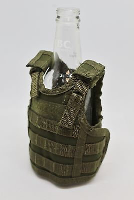 Military Tactical Mini Vest Soda Beer Bottle Coozie Coolie Koozie - OD Green