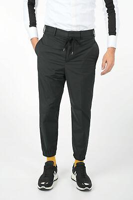 NEIL BARRETT men Trousers 48 IT Black Straight Casual Dropped Fit Pants Black...
