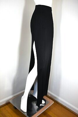 DOLCE & GABBANA ~ VTG 90s ~ Sexy Black Maxi Skirt w/ HIGH Slit ~Sz 44 / 29 Waist