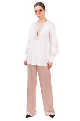 RRP €1560 ERMANNO SCERVINO Shirt Blouse Size 40 / XS-S Embellished Made in Italy