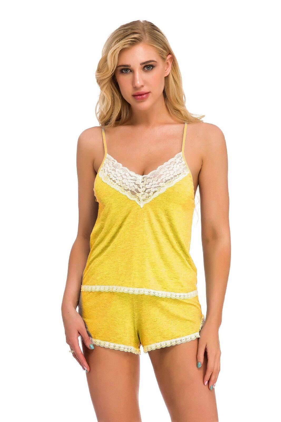 2 Piece Sleepwear Womens Sexy Lingerie Pajamas Cami Shorts Set Nightwear Dress Clothing, Shoes & Accessories