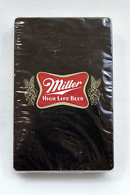 Vintage 1970's Black Miller High Life Beer Playing Cards Deck
