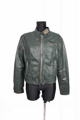 *Superdry Womens Leather Jacket Vintage size L