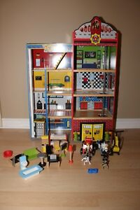Wooden play set  Fire station police department