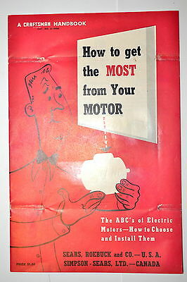 How To Get The Most From Your Motor Abcs Of Electtric 1954 Book Rr938 Craftsman