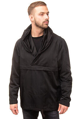 RRP €245 TOM REBL Cagoule Jacket Size 50 / L Black Kangaroo Pocket Made in Italy
