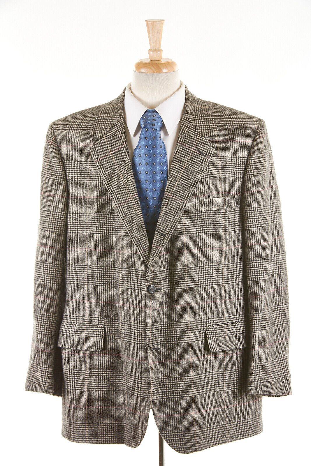 Brooks Brothers Mens Blazer Jacket Sport Coat Camel Hair Brown Glen Plaid Vintage