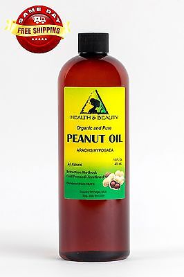 PEANUT OIL UNREFINED ORGANIC by H&B Oils Center COLD PRESSED PREMIUM PURE 16 - Organic Peanut Oil