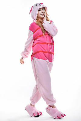 Teen Piglet Costume (Piglet Pajamas Animal Onesie0 Pig Cosplay Women Costumes for Adult and)