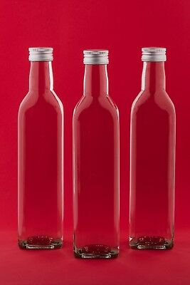 100/250/500 ml leere Weinflaschen Glasflaschen MAR Likör-Flasche Saft Deckel