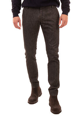 RRP €140 ENTRE AMIS Chino Trousers Size 33 Flat Front Low Waist Made in Italy