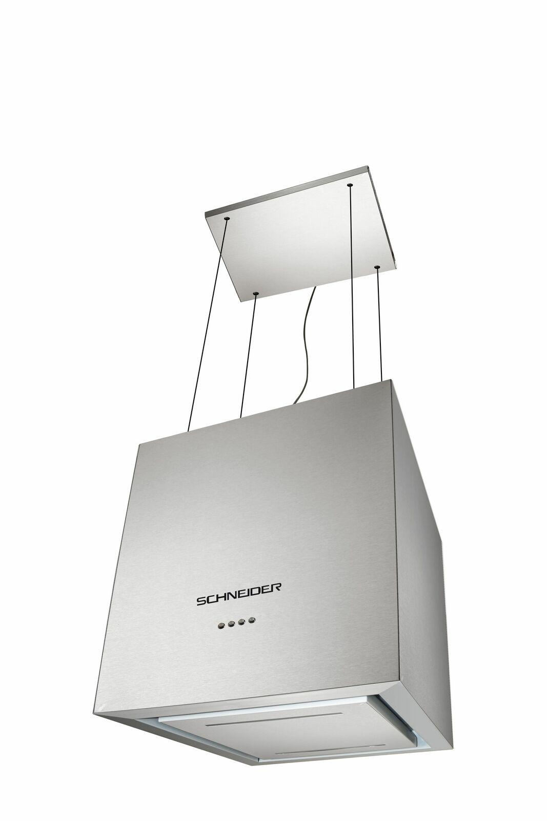 Schneider Inselhaube Dunstabzugshaube A+ Edelstahl hängende 40cm LED Umluft NEU
