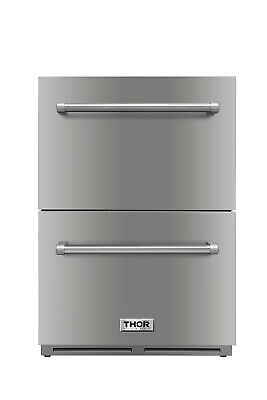 "24"" Under counter built-in outdoor drawer refrigerator, weather proof solid S.S  24 Undercounter Built In Refrigerator"