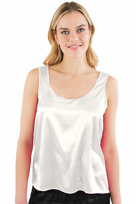 Intimo Women's 100% Silk Charmuse Sleeveless Tank Top Medium