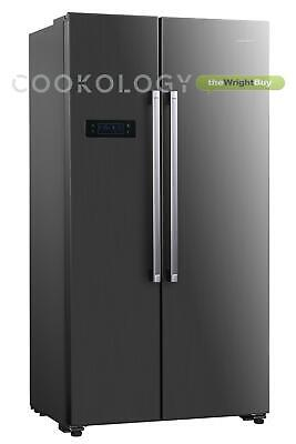 Cookology CSBS500IX 90cm American Side-by-Side Fridge Freezer in Inox, 429L