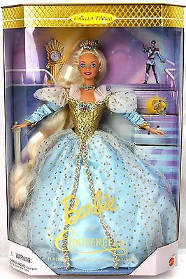 Barbie CINDERELLA Fairy Tale Princess Blue Gold Collector Edition 16900 1996