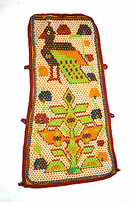 Vintage Hand Embroidery Work Rare Kutch Heavy Bead Wall Hanging Décor. i17-20 UK