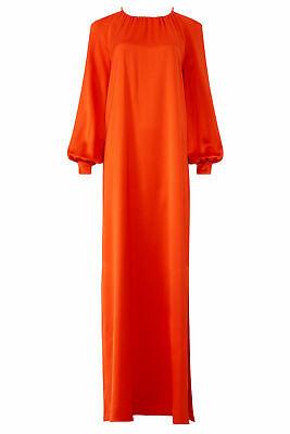Rosetta Getty Women's Dress Red Size 10 Gown Open-Back Satin Crepe $1240- #189