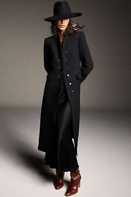 NEW ZARA AW20 LIMITED EDITION WOOL BLEND BLACK COAT 8088/662 SIZE S...