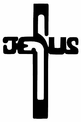 Cross Stickers (JESUS CROSS Vinyl Decal Sticker Car Window Wall Bumper God Religious)