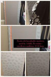 Nook Pebble Lite Crib Mattress - Grey