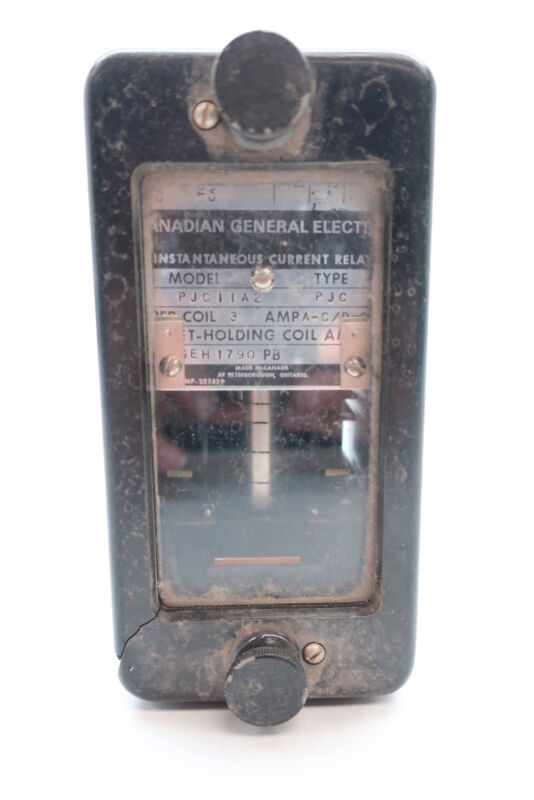 General Electric Ge PJC11A2 Instantaneous Current Relay
