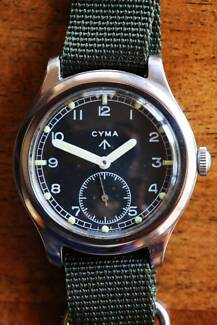 Mint condition Cyma 50's military watch Bondi Junction Eastern Suburbs Preview