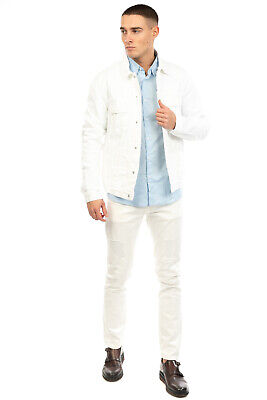 RRP €165 MAURO GRIFONI Denim Jacket Size IT 50 / L Regular Collar Made in Italy