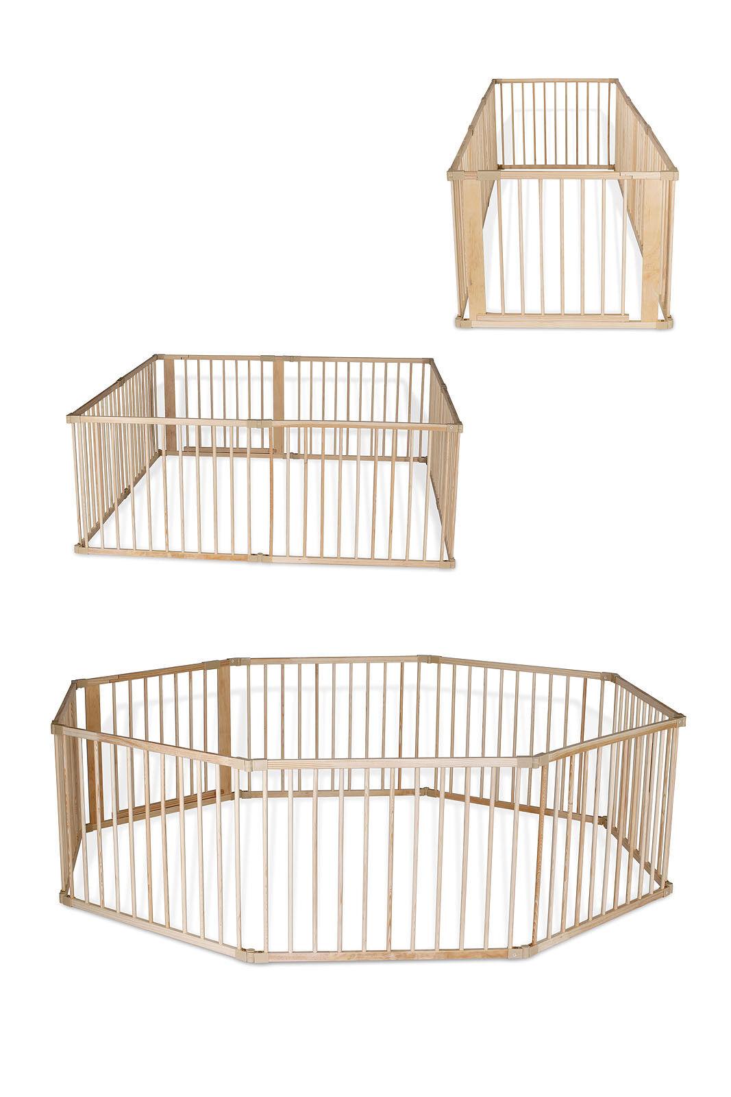 dibea, Laufstall (Holz), Baby Laufgitter H 68 cm, 3 Varianten mit Tür