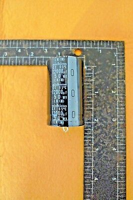 1pc Nichicon Lk Series 12000uf 50v Snap-in Capacitor