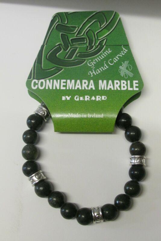 GENUINE Connemara Marble Celtic Stretch Bracelet Guaranteed Irish