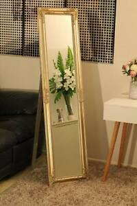 Beautiful free standing champagne mirror 160x40cm