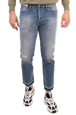 RRP €170 PT05 Jeans Size 34 Distressed Faded Frayed Cuffs Cropped Tapered Fit
