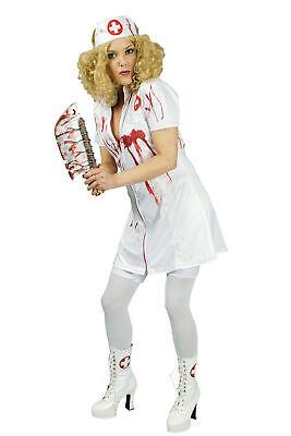 Kostüm blutige Krankenschwester Damen Kleid Horror Zombie Fasching Halloween