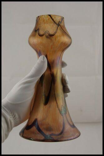 """c.1900 JOHANN LOETZ BOHEMIAN ART GLASS IRIDESCENT VASE 9.1/2"""" CZECH ART NOUVEAU"""