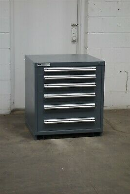 Used Stanley Vidmar 6 Drawer Cabinet 33 Inch High Industrial Tool Storage 2178