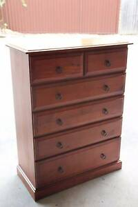 VGC solid timber 6 drawers tallboy metal runner can deliver Parramatta Parramatta Area Preview