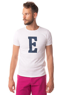 EDWIN T-Shirt Top Size XL Printed 'E' Short Sleeve Crew Neck Made in Portugal