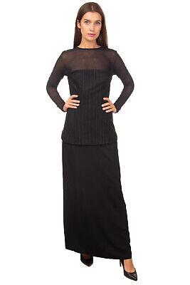 RRP €500 MM6 MAISON MARGIELA Cocktail Column Dress Size 40 S Wool Blend Striped