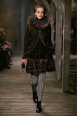 13A Chanel Paris Edinburgh Lesage Trim Wool Tweed Jacket 36