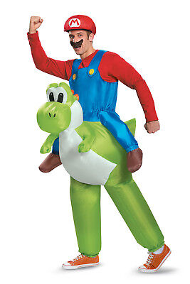 Adult Mario Riding Yoshi Costume Super Mario Brothers Nintendo 85150