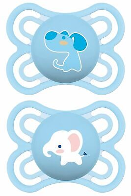 MAM Baby Item 99953000 Perfect 0-6 Silicone Dummy for Boys Pack of 2 BPA free