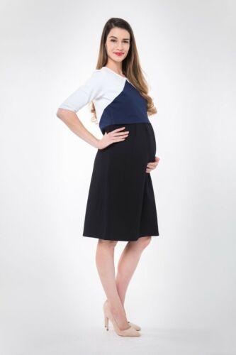 Nom Maternity Valentina Nursing Dress Colorblock M Sheath Long Sleeve New 5135