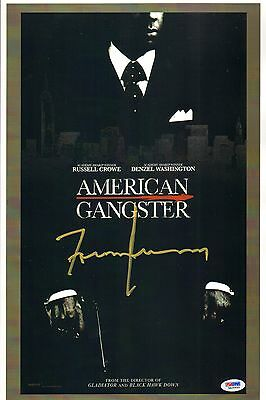 Frank Lucas Signed American Gangster Movie 11x17 Poster PSA/DNA COA Autograph