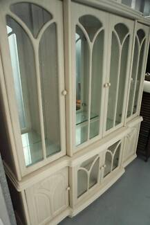 Classic white solid wall unit / display cabinet / buffet & hutch Lilyfield Leichhardt Area Preview