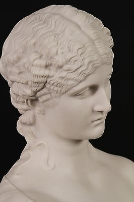 Marble Bust of Clytie, Classical Sculpture. Ornament, Gift, Art, Marble.