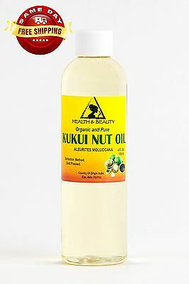 KUKUI NUT OIL ORGANIC CARRIER COLD PRESSED NATURAL 100% PURE 4 OZ