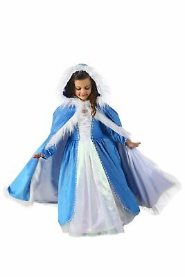 Snow Queen Cape (Crystal Blizzard Snow Queen Cover Elsa Style Hooded Cape Deluxe Girls)