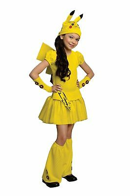 Rubies Girls Pikachu Pokemon Cartoon Ash Childrens Halloween Costume 886696 - Pokemon Halloween Costumes For Girls