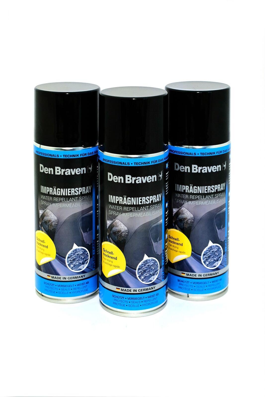 Imprägnierspray 7,91€/L Den Braven 3x400ml Textilschutz Spray Zelt Boot